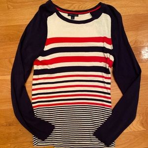 Tommy Hilfiger Striped Casual Sweater Top Large